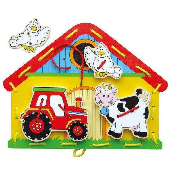 Деревянная шнуровка Viga Toys Веселая ферма (59027)