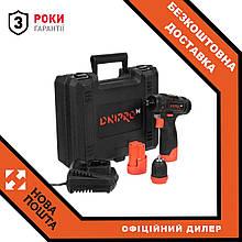 Акумуляторний дриль-шуруповерт Dnipro-M CD-121Q