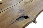 Стол -слэб из Береста залит эпоксидной смолой  2000х1000мм с комплектом ножек Х-метал в наличии, фото 7
