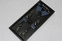 Светло-синие рельефные мужские подтяжки , фото 1