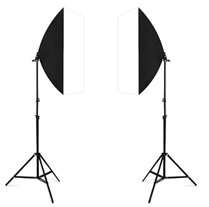 Софтбокс 50 х 70 см  для постоянного света со cтойками 2 метра