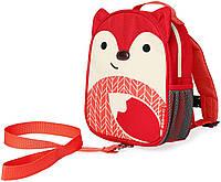 Детский мини-рюкзак с поводком Skip Hop Zoo let (mini backpack with rein) - Fox (Лисичка), 1-4 г.