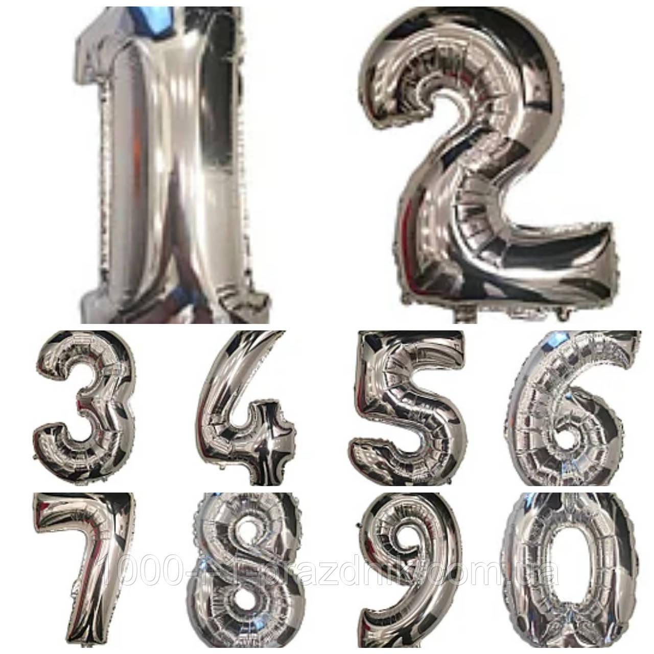 "Цифра ""2""   40 см Серебро"