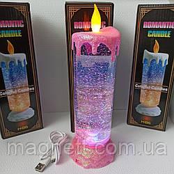 Свеча-лампа декоративная Romantic Candle Розовый