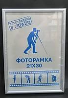 Рамка для фотографий серебристая 21х30