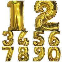 """Цифра """"2""""   40 см Золото"""