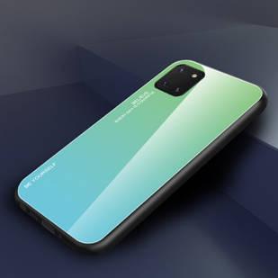 Чехол Gradient для Samsung Galaxy Note 10 Lite / N770F (green-blue)
