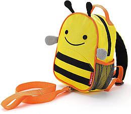 Дитячий міні-рюкзак з повідцем Skip Hop Zoo let (mini backpack with rein) - Bee (Бджілка), 1-4 р.