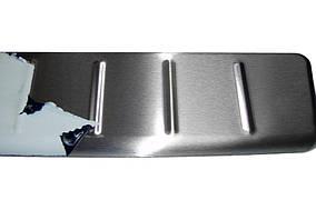 Nissan Juke 2010↗ рр. Накладка на задній бампер МАТ OmsaLine (нерж)