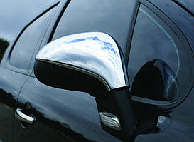 Peugeot 308 2007-2013 рр. Накладки на дзеркала (2 шт., нерж) Carmos - Турецька сталь