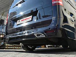 Накладка на задній бампер V2 (під фарбування) Mercedes Vito / V W447 2014↗ рр.