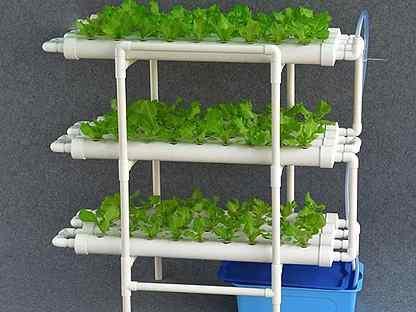 Гидропонная установка NFT для выращивания зелени 108 ячеек (hub_hnbt71711)