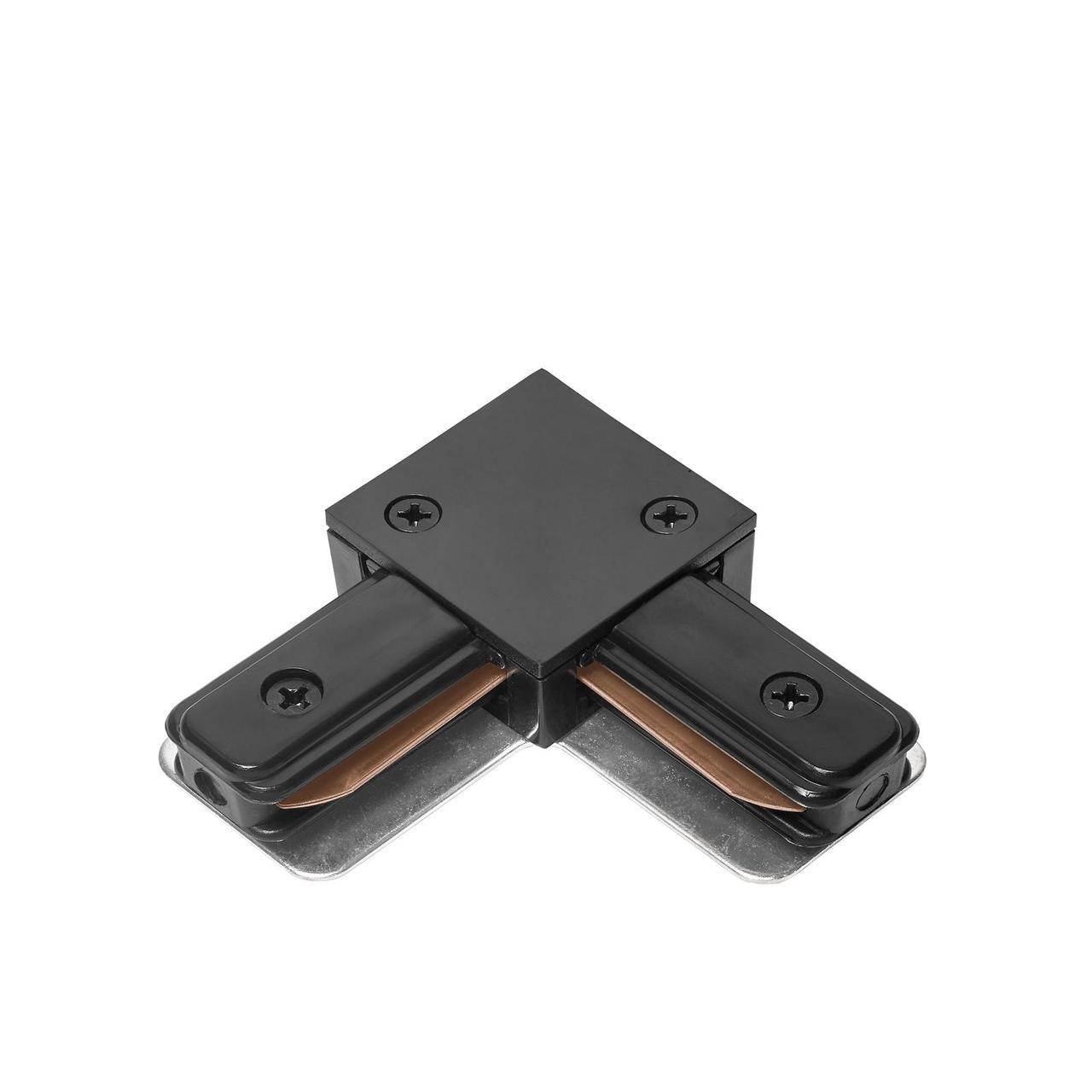 DELUX 2LC  L-образный коннектор шинопровод  1-фазный черный