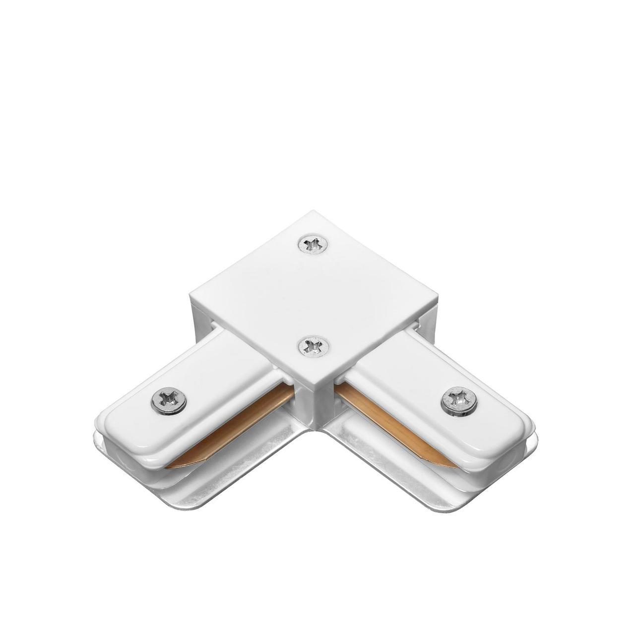 DELUX 2LC L-образный коннектор шинопровод  1-фазный белый