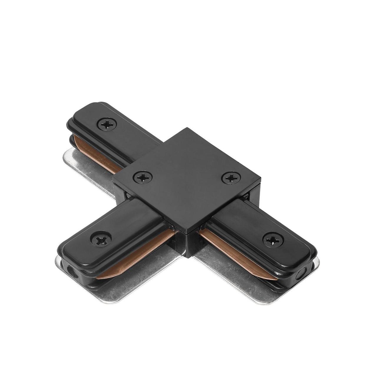 DELUX 2TC  Т-образный коннектор шинопровод  1-фазный черный
