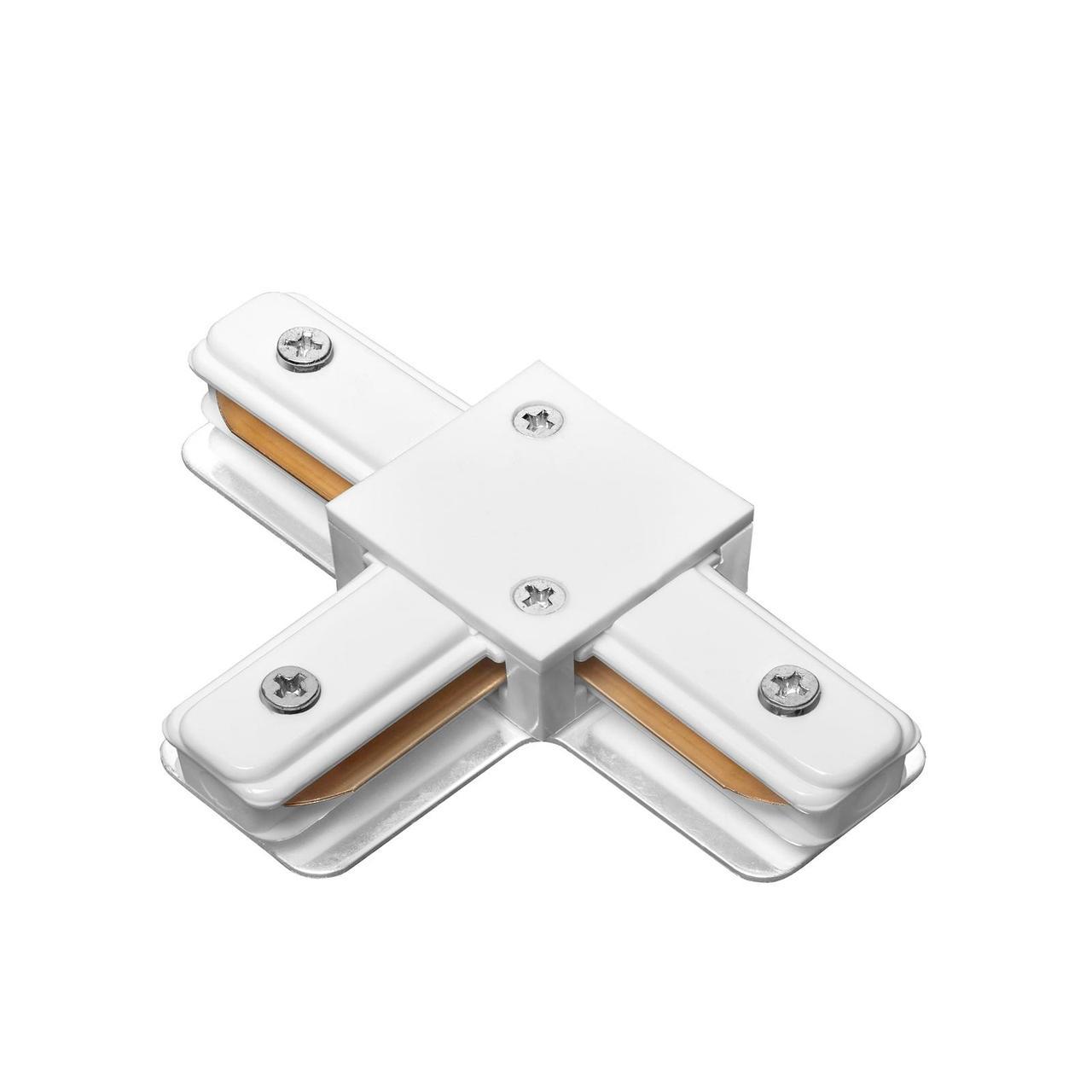 DELUX 2TC Т-образный коннектор шинопровод  1-фазный белый