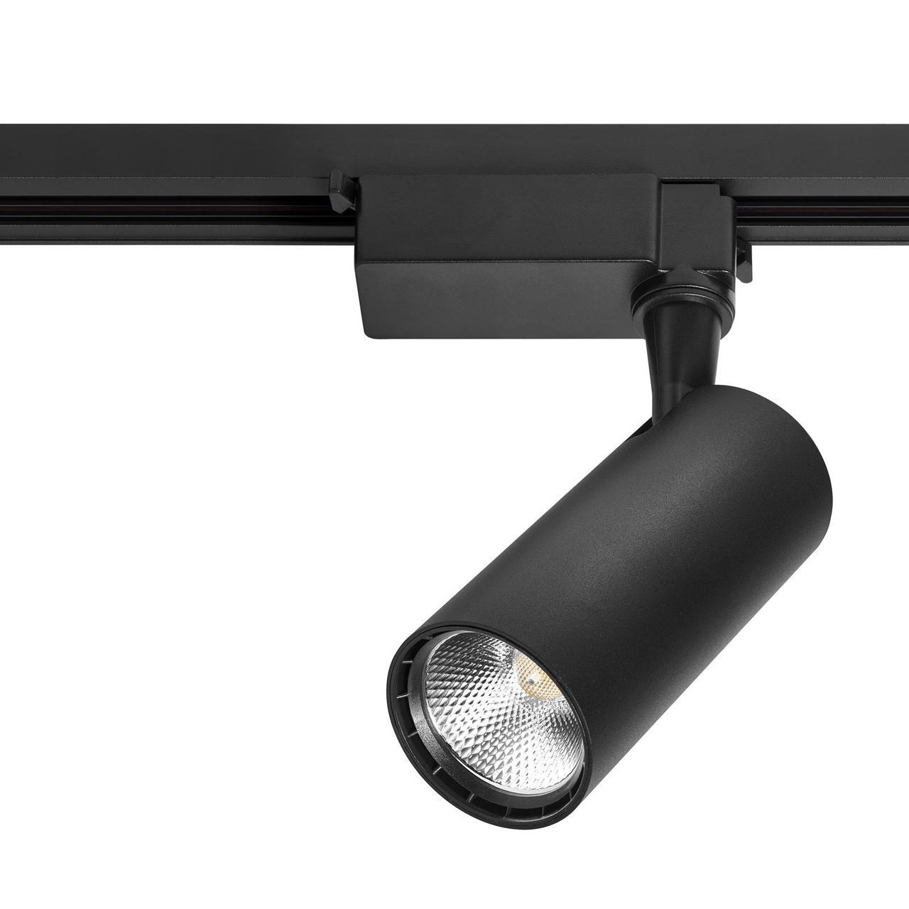 Лед прожектор трековый DELUX TL07 10 Вт  36°  4000K  черный