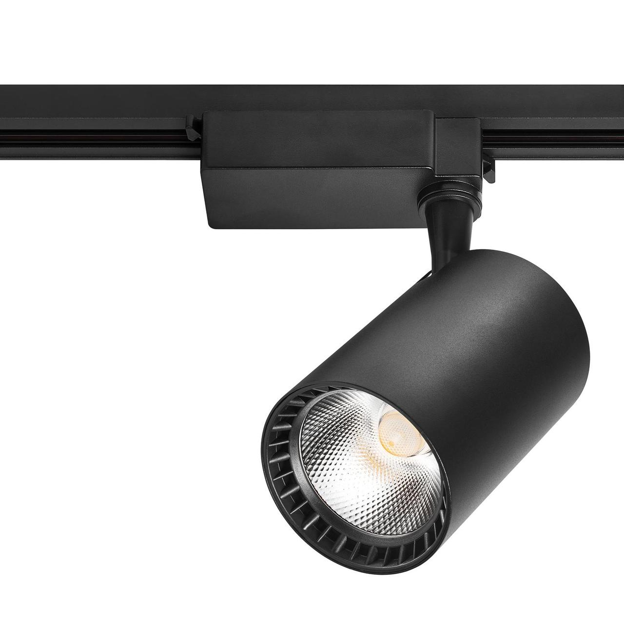 Лед прожектор трековый DELUX TL07 30 Вт  36°  4000K  черный