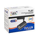 Лед прожектор трековый DELUX TL07 30 Вт  36°  4000K  черный, фото 3