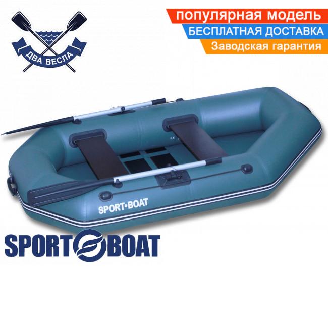 Надувная лодка Sport Boat L 220 LS LAGUNA одноместная гребная лодка ПВХ Спорт Бот Лагуна брызгоотбойник слань-