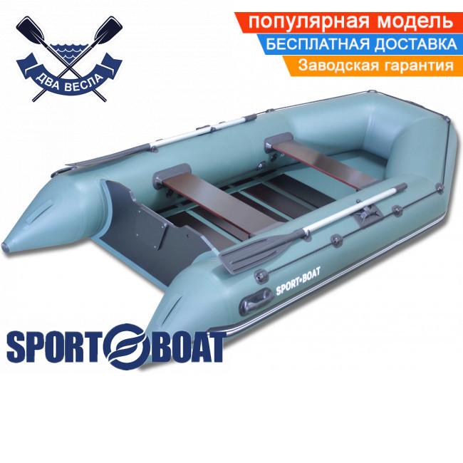 Моторная лодка Sport Boat N 310 LS NEPTUN четырехместная лодка ПВХ под мотор Спорт Бот Нептун слань-коврик