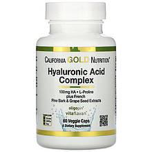"Гиалуроновая кислота California GOLD Nutrition ""Hyaluronic Acid Complex"" 100 мг (60 капсул)"