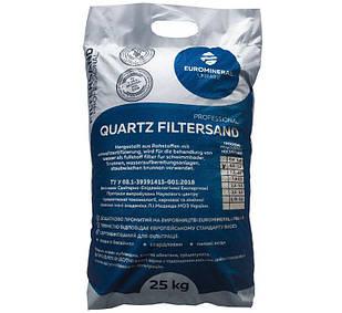 Песок кварцевый new Filtersand, фракция 0.8 - 1.2 мм (Украина), мешок 25 кг