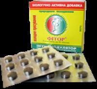 Биоактивная добавка ФИТОР в форме таблеток.