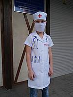 Детский костюм Доктор с халатом и колпаком р 110-128