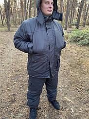 Зимний костюм для рыбалки и охоты ,Таслан пепельно-синий ,качественный пошив.