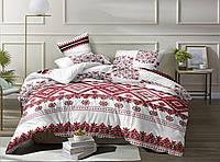 """Семейное постельное белье евро-размер с двумя пододеяльниками (12635) хлопок """"Ранфорс"""""""