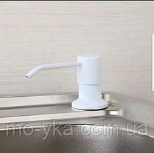 Дозатор врезной для жидкого мыла белый