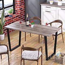 Стол обеденный Трапеция Loft Design Дуб Палена. Обідній стіл для дому та офісу