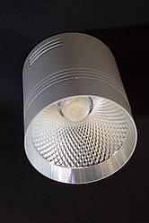Светодиодный светильник накладной точечный  Feron AL542 10W 4000К белый+серебро