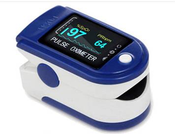 Пульсоксиметр Fingertip Pulse Oximeter 1 шт Синий (0224)