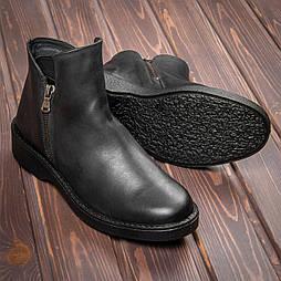 Женские кожаные ботинки Tellus 06-11B Черные