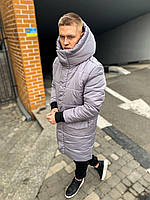 Зимняя парка мужская теплая серая и черная, мужские куртки зимние длинные ASOS parka long 2020 до -30 градусов