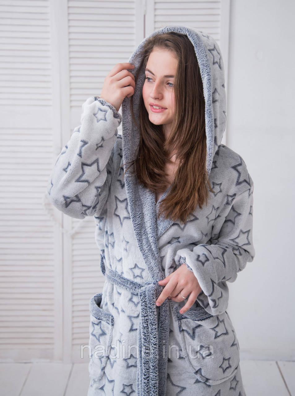 Халат Blur Star подростковый Eirena Nadine (64-564) рост 158-164 синий