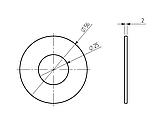 Прокладка гумова ф56/ф25 для тороїдальних трансформаторів, фото 2