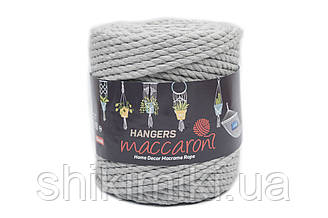 Macaroni Rope Hangers 10 mm,колір Сірий меланж
