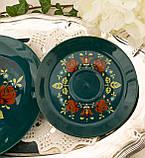 Німецька порцеляновий кавова трійка, ручний розпис, Winterling Porcelain, Німеччина, 1970 року, фото 4