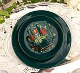 Німецька порцеляновий кавова трійка, ручний розпис, Winterling Porcelain, Німеччина, 1970 року, фото 8