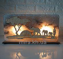 Соляной светильник Прямоугольник Слоны