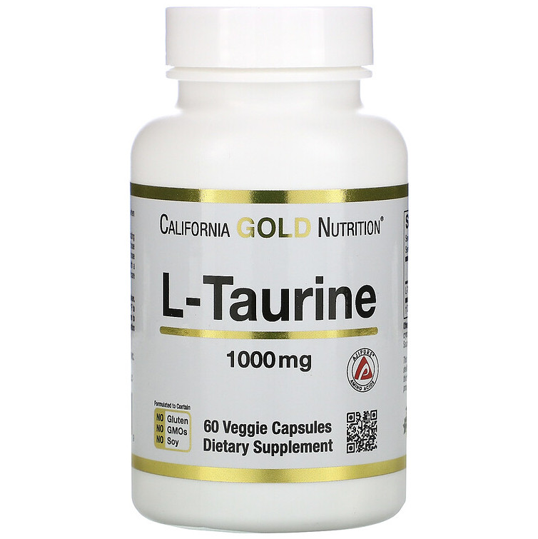 "L-Таурин California GOLD Nutrition ""L-Taurine"" 1000 мг (60 капсул)"