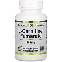 "L-карнітин фумарат California GOLD Nutrition, SPORT ""L-Carnitine Fumarate"" 885 мг (60 капсул)"
