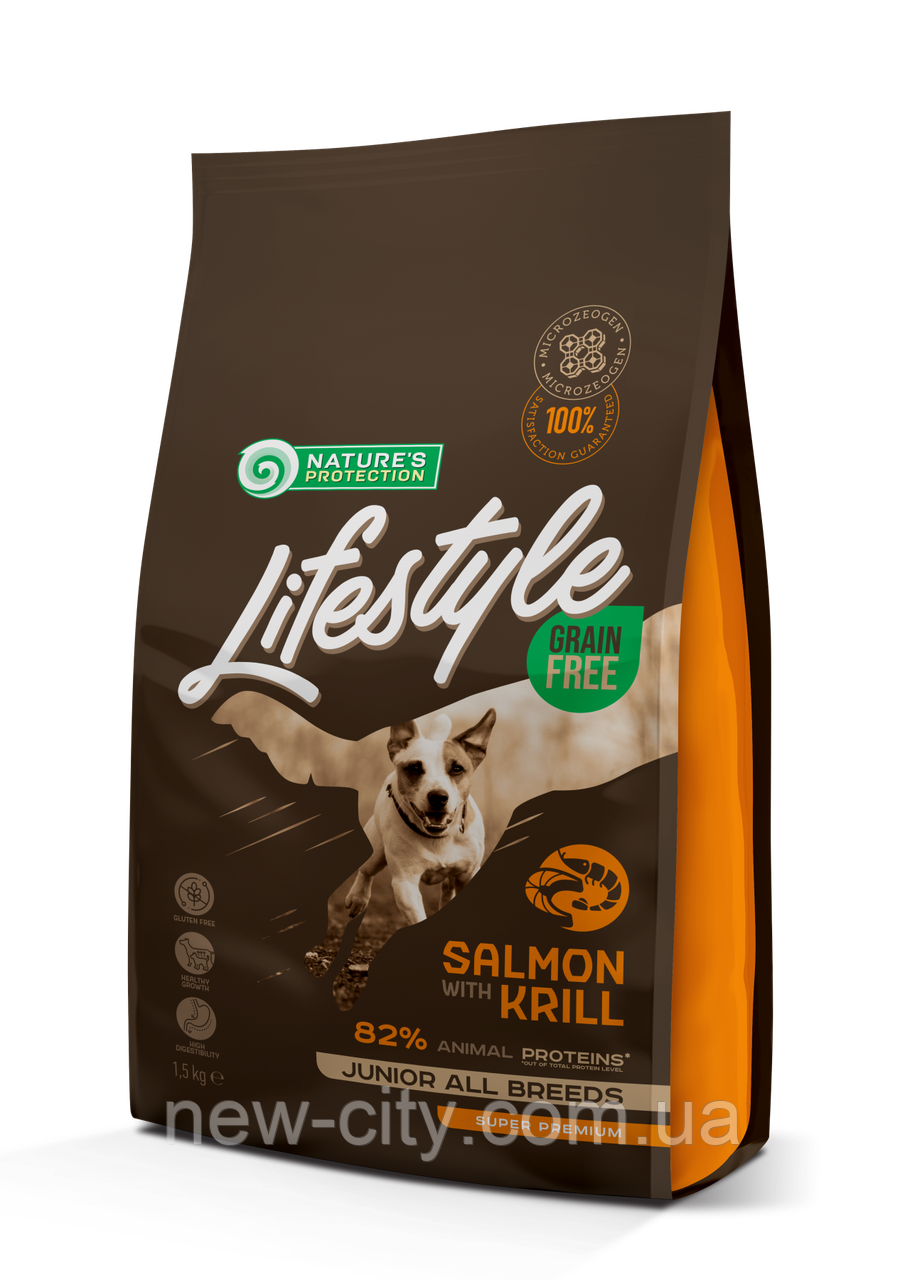 NP Lifestyle Grain Free Salmon with Krill Junior All Breeds 1.5кг