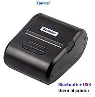 МОБИЛЬНЫЙ ПРИНТЕР 2 в 1 ЭТИКЕТОК И ЧЕКОВ XPRINTER XP-P210B (USB+BLUETOOTH), фото 1