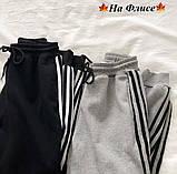 Спортивные штаны женские чёрный, графит, 42-44, 46-48, фото 5