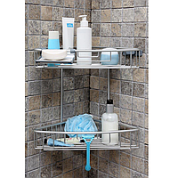 Полка для ванной двухъярусная алюминиевая, фото 1