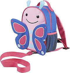 Дитячий міні-рюкзак з повідцем Skip Hop Zoo let (mini backpack with rein) - Butterfly (Метелик), 1-4 р.